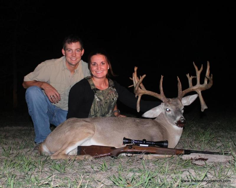 "Carrie and Stephen took this double drop 5 year old 200 7/8"" in 2012"